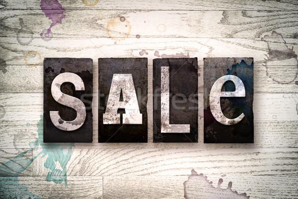 Сток-фото: продажи · металл · тип · слово · написанный