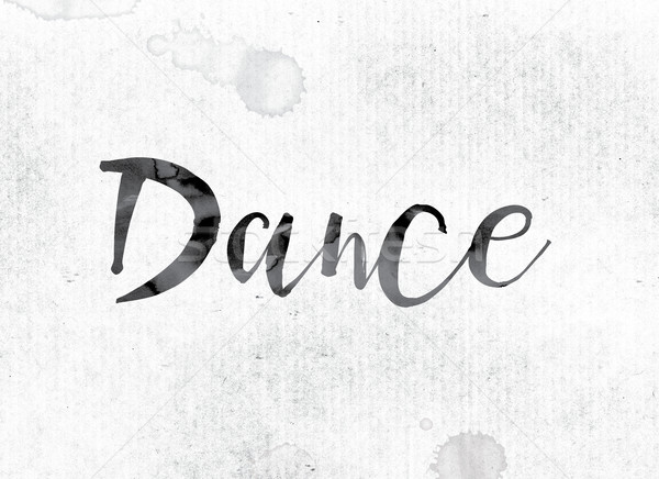 Dance Concept Painted in Ink Stock photo © enterlinedesign