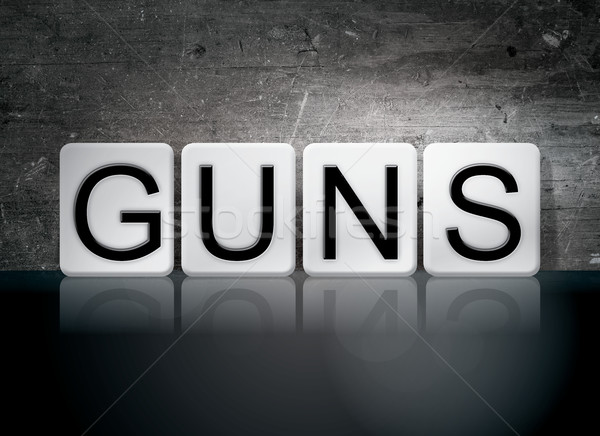 Guns Tiled Letters Concept and Theme Stock photo © enterlinedesign