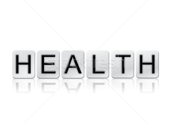 Health Isolated Tiled Letters Concept and Theme Stock photo © enterlinedesign