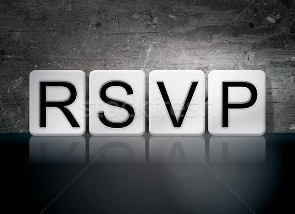 RSVP Tiled Letters Concept and Theme Stock photo © enterlinedesign
