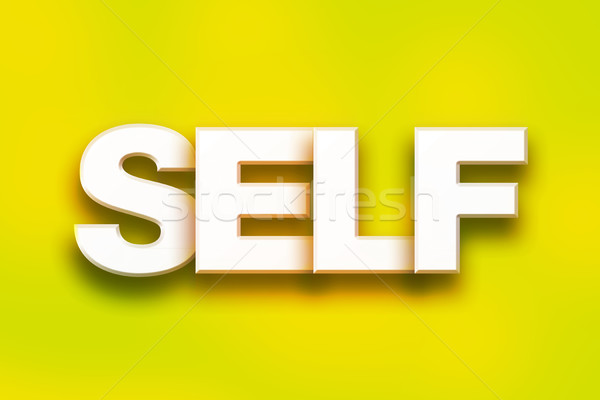 Self Concept Colorful Word Art Stock photo © enterlinedesign