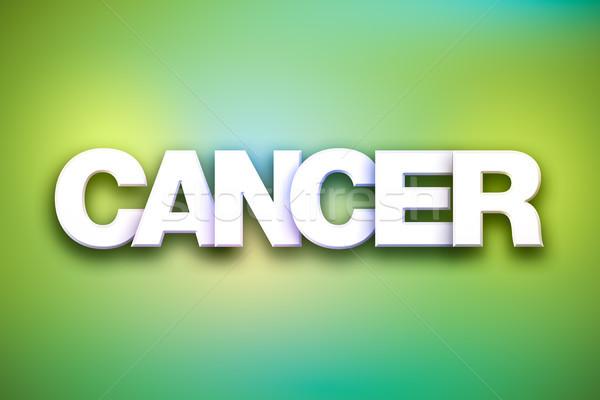 Kanser kelime sanat renkli yazılı beyaz Stok fotoğraf © enterlinedesign