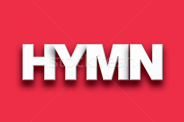 Hymn Theme Word Art on Colorful Background stock photo
