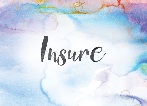 Insure Concept Watercolor and Ink Painting Stock photo © enterlinedesign