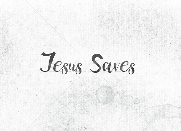 Jesus Saves Concept Painted Ink Word and Theme Stock photo © enterlinedesign