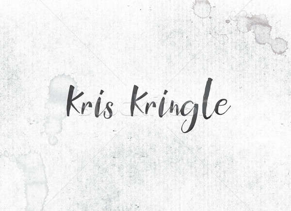 Kris Kringle Concept Painted Ink Word and Theme Stock photo © enterlinedesign