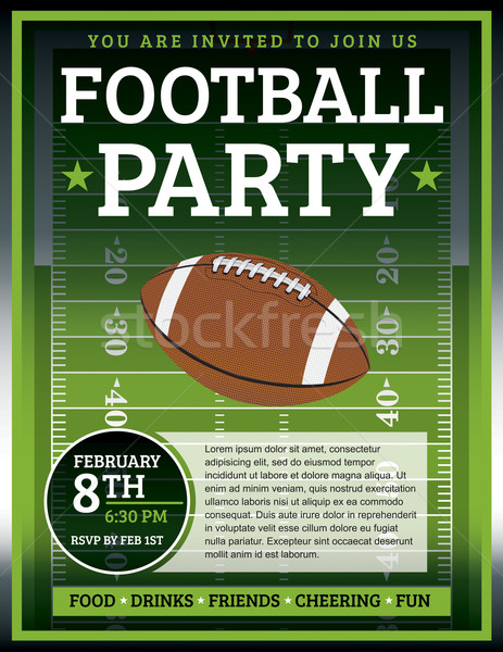 Football fête flyer design parfait partis Photo stock © enterlinedesign