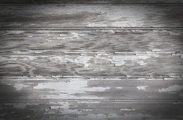 Soyulmuş boya tahta yıpranmış ahşap Stok fotoğraf © enterlinedesign