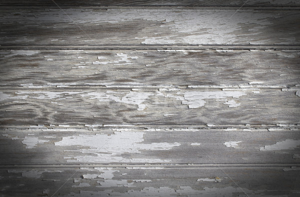 Pelado pintura perla bordo capeado madera Foto stock © enterlinedesign