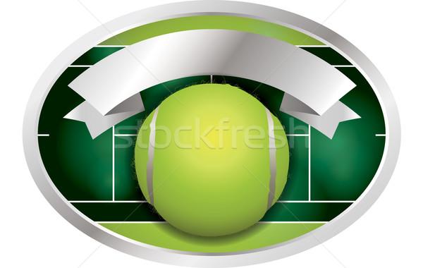 Tennis Ball Banner Illustration Stock photo © enterlinedesign