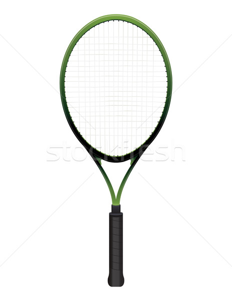Tennis Racquet Illustration Isolated on White Stock photo © enterlinedesign