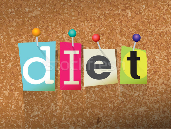 Diet Concept Pinned Letters Illustration Stock photo © enterlinedesign