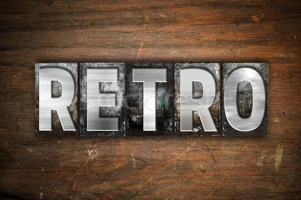 Retro Concept Metal Letterpress Type Stock photo © enterlinedesign
