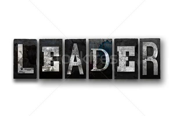 Líder aislado tipo palabra escrito Foto stock © enterlinedesign