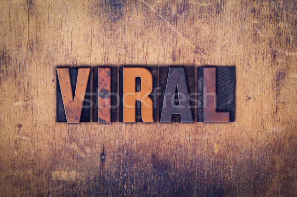 Viral tipo palavra escrito Foto stock © enterlinedesign