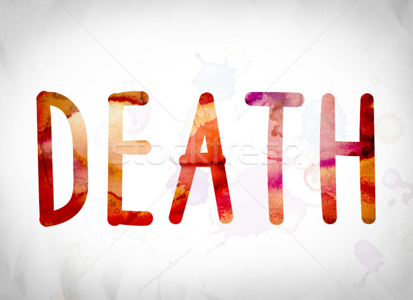 Death Concept Watercolor Word Art Stock photo © enterlinedesign