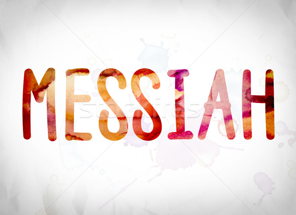 Messiah Concept Watercolor Word Art Stock photo © enterlinedesign