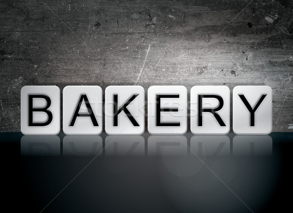 Bakery Tiled Letters Concept and Theme Stock photo © enterlinedesign