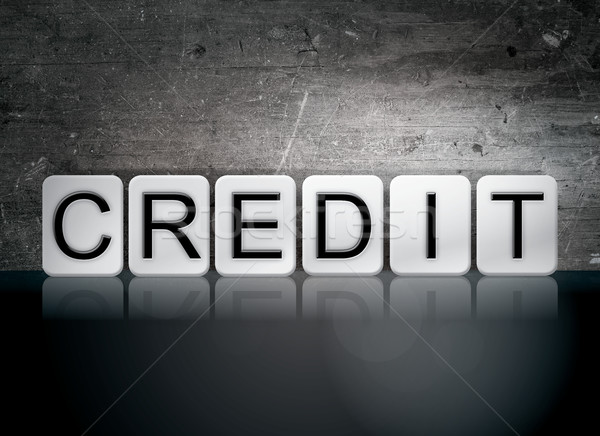 Credit Tiled Letters Concept and Theme Stock photo © enterlinedesign