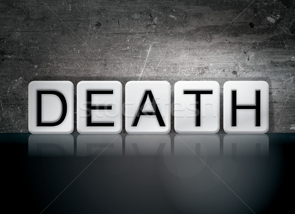 Death Tiled Letters Concept and Theme Stock photo © enterlinedesign