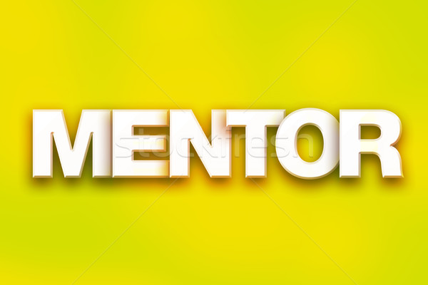 Mentor Concept Colorful Word Art Stock photo © enterlinedesign
