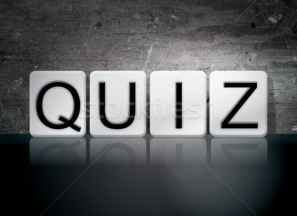 Quiz Tiled Letters Concept and Theme Stock photo © enterlinedesign