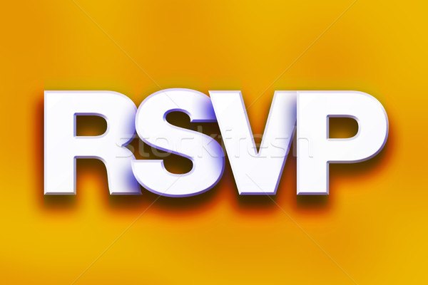RSVP Concept Colorful Word Art Stock photo © enterlinedesign