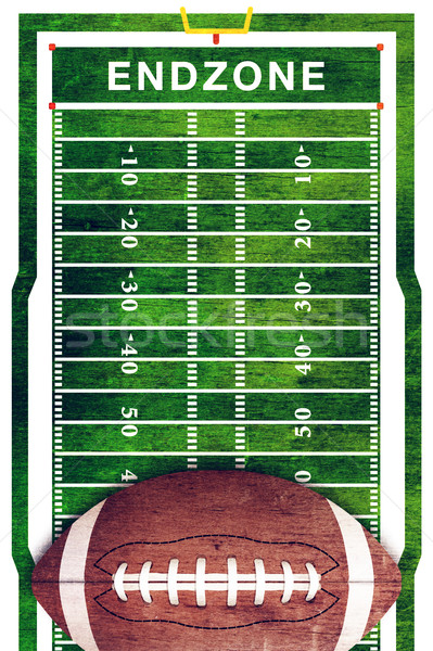 American Football and Field Grunge Background Stock photo © enterlinedesign