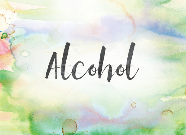 Alcohol Concept Watercolor and Ink Painting Stock photo © enterlinedesign
