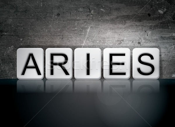 Aries Concept Tiled Word Stock photo © enterlinedesign