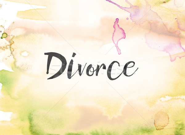 Divorce Concept Watercolor and Ink Painting Stock photo © enterlinedesign
