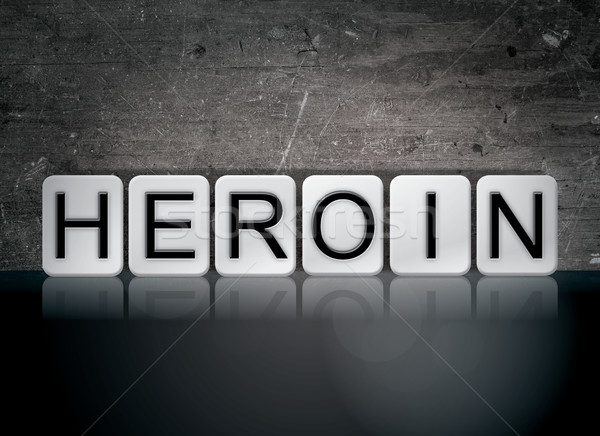 Heroin Concept Tiled Word Stock photo © enterlinedesign
