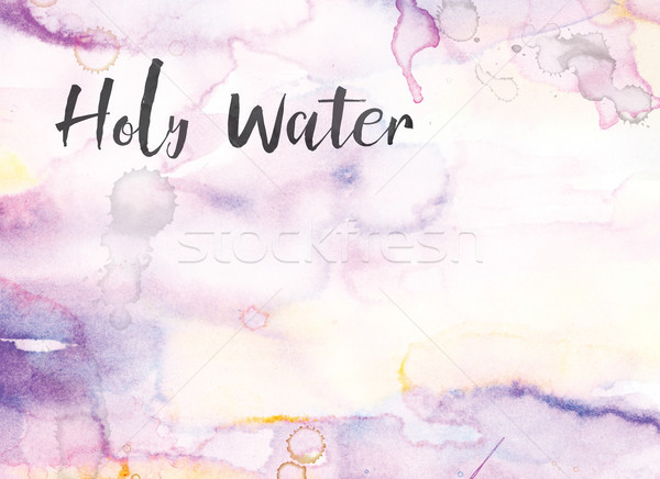 Holy Water Concept Watercolor and Ink Painting Stock photo © enterlinedesign