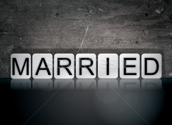 Married Concept Tiled Word Stock photo © enterlinedesign