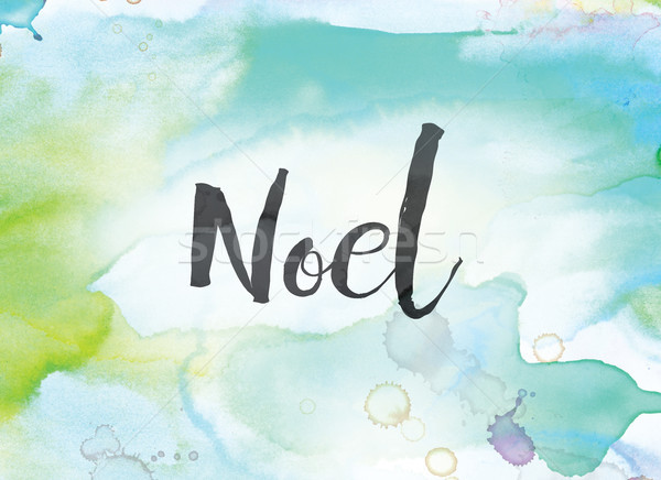 Noel Concept Watercolor and Ink Painting Stock photo © enterlinedesign