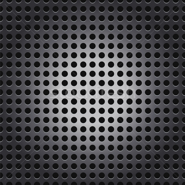 Shiny Silver Metal Mesh Grid Background Illustration Stock photo © enterlinedesign