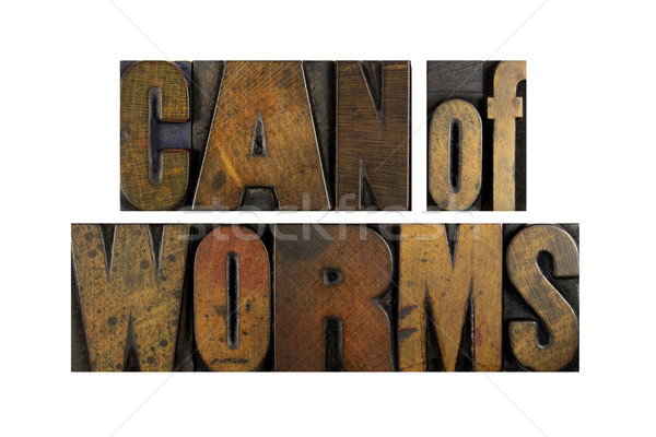 Can of Worms Stock photo © enterlinedesign