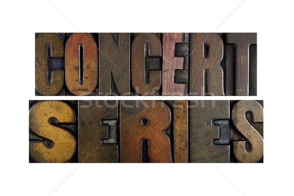 Concert Series Stock photo © enterlinedesign