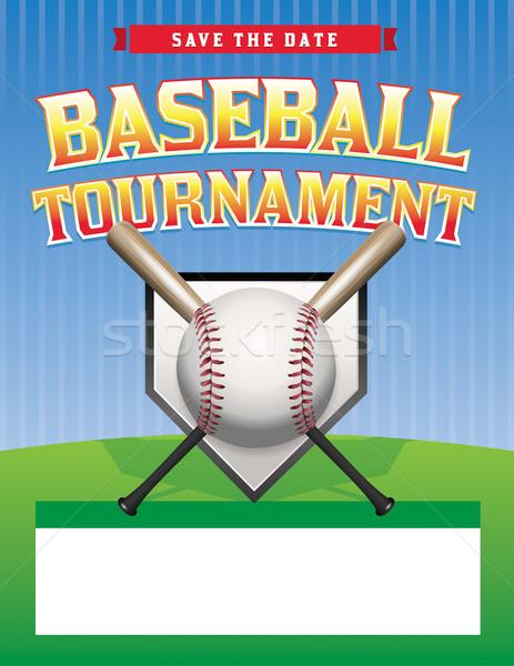 Béisbol torneo ilustración volante habitación espacio de la copia Foto stock © enterlinedesign