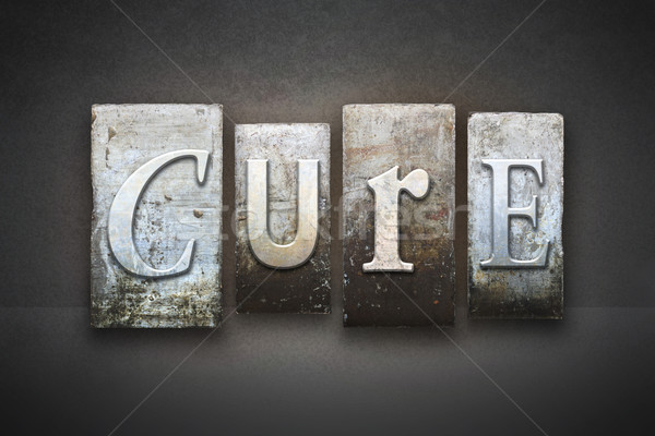 Cure Letterpress Stock photo © enterlinedesign