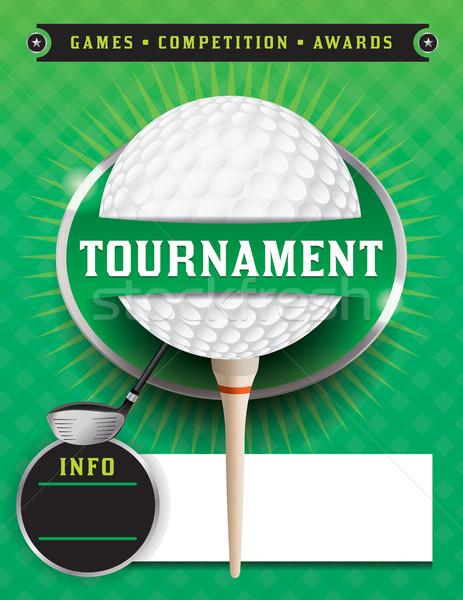 Golf toernooi sjabloon illustratie vector eps Stockfoto © enterlinedesign
