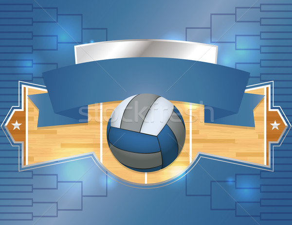 Volleyball Tournament Illustration Stock photo © enterlinedesign