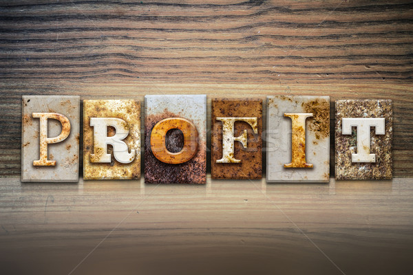Profit Concept Letterpress Theme Stock photo © enterlinedesign