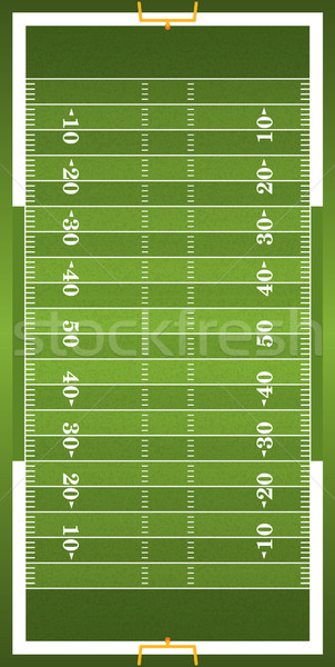 Textured Grass Vertical American Football Field Stock photo © enterlinedesign