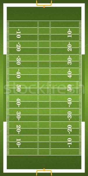 çim dikey amerikan futbol sahası örnek Stok fotoğraf © enterlinedesign