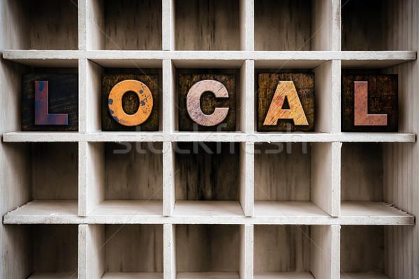 Locale legno tipo cassetto parola Foto d'archivio © enterlinedesign