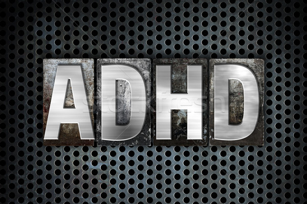 ADHD Concept Metal Letterpress Type Stock photo © enterlinedesign