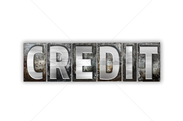 Credit Concept Isolated Metal Letterpress Type Stock photo © enterlinedesign