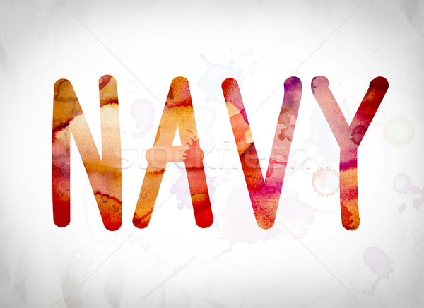 Stock photo: Navy Concept Watercolor Word Art